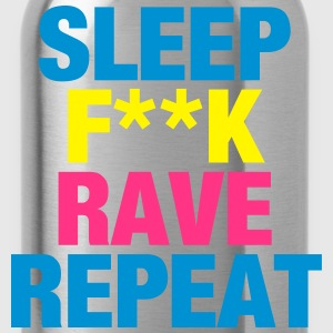 Sleep F**k Rave Repeat Pullover & Hoodies - Trinkflasche