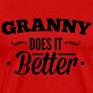 Grandma, Grandma makes it better Langarmede T-skjorter - Premium T-skjorte for menn