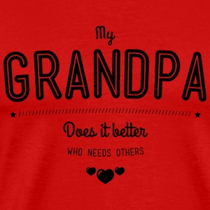 My grandpa does it better Débardeurs - T-shirt Premium Homme