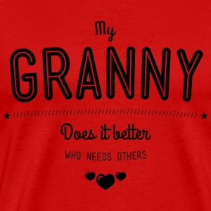 My granny does it better Manches longues - T-shirt Premium Homme