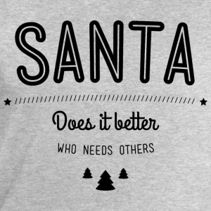 Santa does it better T-shirts - Mannen sweatshirt van Stanley & Stella