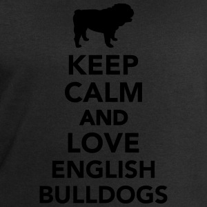 Keep calm and love english bulldogs T-Shirts - Männer Sweatshirt von Stanley & Stella