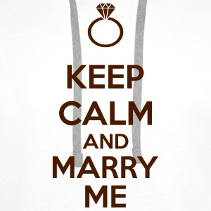 Keep Calm And Marry Me Tee shirts - Sweat-shirt à capuche Premium pour hommes