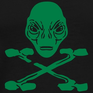 Alien pirate crossed bones men tank top - Men's Premium T-Shirt