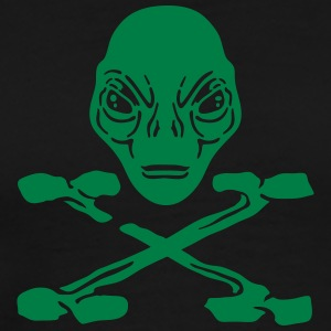 Alien pirate crossed bones hoodie men - Men's Premium T-Shirt