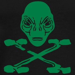 Alien pirate sweatshirt bella for women - Men's Premium T-Shirt