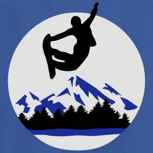 Snowboarder & mountains - Men's Breathable T-Shirt