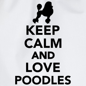 Keep calm and love poodles T-Shirts - Turnbeutel
