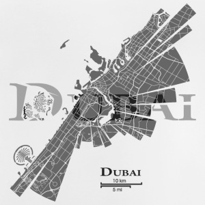 Dubai Map Shirts - Baby T-Shirt