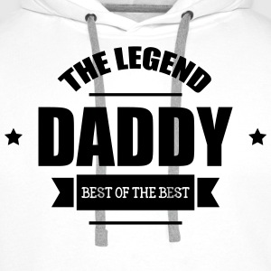 Daddy The Legend T-shirts - Herre Premium hættetrøje