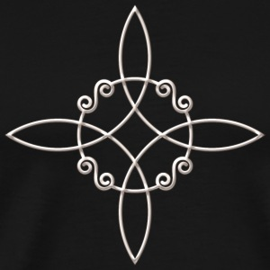 Witch`s Knot, Power of 4 elements - Binding Rune T - Men's Premium T-Shirt