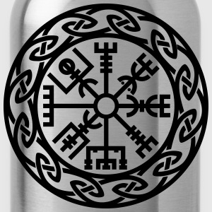 Vegvísir, Iceland, Magic Rune, Protection compass Camisetas - Cantimplora