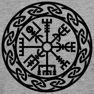 Vegvísir, Iceland, Magic Rune, Protection compass Tee shirts - T-shirt manches longues Premium Homme