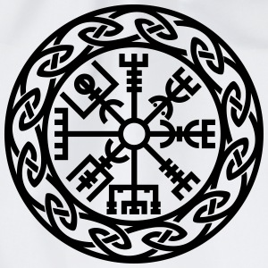 Vegvísir, Iceland, Magic Rune, Protection compass Magliette - Sacca sportiva