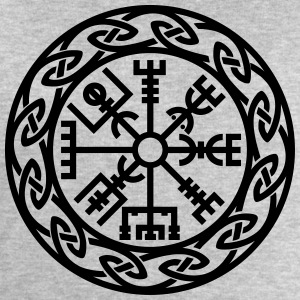 Vegvísir, Iceland, Magic Rune, Protection compass Tee shirts - Sweat-shirt Homme Stanley & Stella