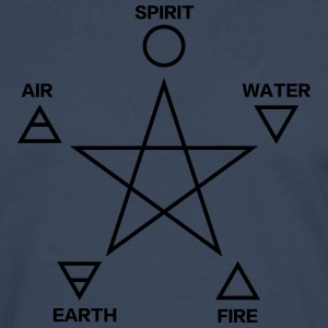 Pentagram, elements, spirit, magic icon T-shirts - Långärmad premium-T-shirt herr