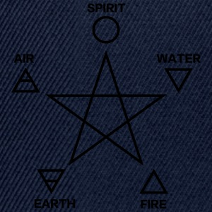Pentagram, elements, spirit, magic icon T-Shirts - Snapback Cap