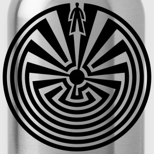 I'itoi, Man in the Maze, Papago Indians, Journey T-Shirts - Water Bottle