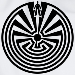 I'itoi, Man in the Maze, Indianer Symbol Labyrinth - Turnbeutel