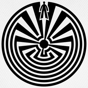 I'itoi, Man in the Maze, Indianer Symbol Labyrinth - Baseballkappe