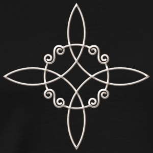 Witch`s Knot, Power of 4 elements - Binding Rune Long Sleeve Shirts - Men's Premium T-Shirt