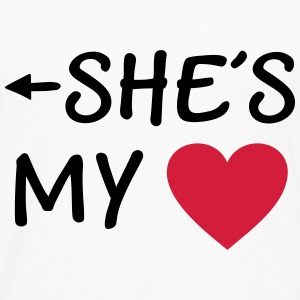 She is my Heart I love my Girlfriend She's Mine Pullover & Hoodies - Männer Premium Langarmshirt