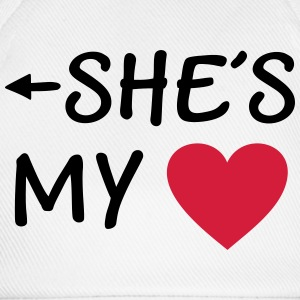She is my Heart I love my Girlfriend She's Mine Handy & Tablet Hüllen - Baseballkappe