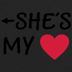 She is my Heart I love my Girlfriend She*s Mine Caps & Hats - Men's Premium Longsleeve Shirt