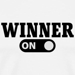 Winner on Tröjor - Premium-T-shirt herr