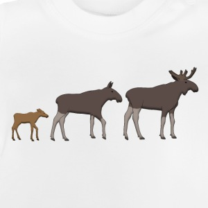 Moose family goes T-shirts - Baby T-shirt
