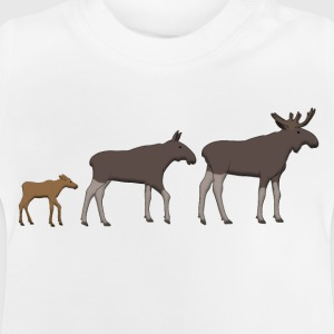 Moose family goes Shirts - Baby T-shirt