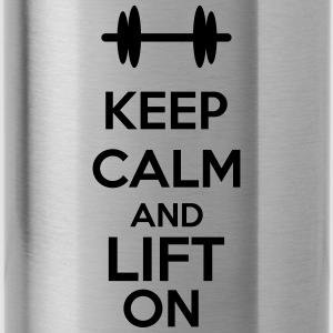 Keep Calm And Lift On Caps & Mützen - Trinkflasche