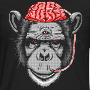 Brain Chimp 2 T-Shirts - Men's Premium Longsleeve Shirt