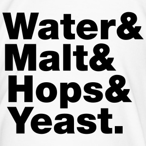 Beer | Water & Malt & Hops & Yeast. Mugs & Drinkwa - Men's Premium T-Shirt