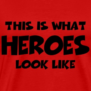 This is what heroes look like Langarmshirts - Männer Premium T-Shirt
