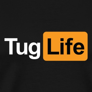 Tug Life - Porn Addict Teddy Bear Toys - Men's Premium T-Shirt