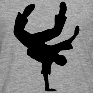 Breakdance Dancer Break-Dance Tänzer Music Musik  Pullover & Hoodies - Männer Premium Langarmshirt