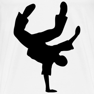 Breakdance Moves Freeze Break dans musik  Andet - Herre premium T-shirt