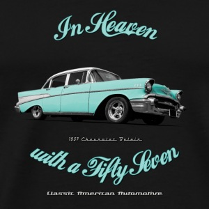 Black mug | 57 Chevy | Classic American Automotive - Men's Premium T-Shirt