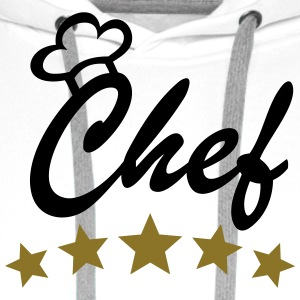 5 Stars Chef Cook Cooking Chef's Hat aprons Shirts - Men's Premium Hoodie