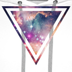 Galaxy - Space - Universe / Hipster Triangle Tee shirts - Sweat-shirt à capuche Premium pour hommes