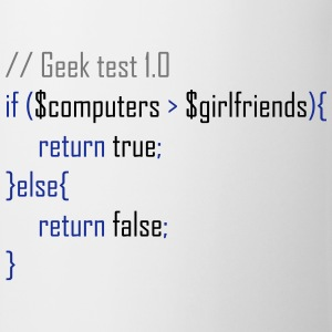 Geek test T-shirts - Kop/krus