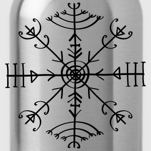 Veldismagn, Icelandic Rune, Protection Symbol T-Sh - Trinkflasche