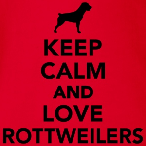 Keep calm and love Rottweilers T-Shirts - Baby Bio-Kurzarm-Body