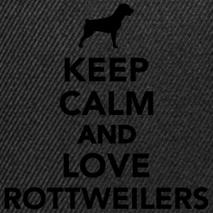 Keep calm and love Rottweilers T-Shirts - Snapback Cap