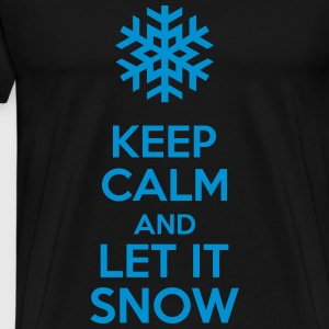Keep Calm And Let It Snow Sweaters - Mannen Premium T-shirt