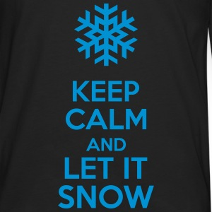 Keep Calm And Let It Snow Sweat-shirts - T-shirt manches longues Premium Homme