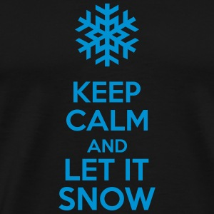 Keep Calm And Let It Snow Väskor & ryggsäckar - Premium-T-shirt herr