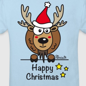Body Bébé, Papa Renne, Noël - Happy Christmas - T-shirt Bio Enfant
