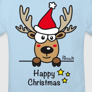 Body Bébé, Baby Renne, Noël - Happy Christmas - T-shirt Bio Enfant